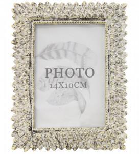 Rama foto, cadru crem antichizat, 17x13x1.5 cm