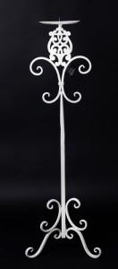 Suport metalic lumanare, inaltime 74 cm