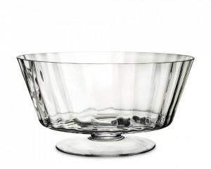 Vas de sticla transparent, pe picior, 16x32 cm