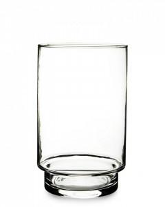 Vaza sticla transparenta, cilindru, 19x12x12 cm