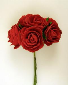 Buchet de trandafiri, rosu, spuma