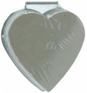 Burete floral in forma de inima, in suport plastic