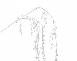 Creanga artificiala, salcie, cu sclipici, 120 cm