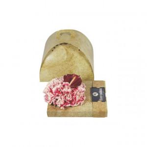 Cutie cadou pentru aranjament floral, model crem