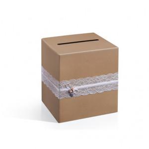 Cutie carton pentru dar de nunta, 24 cm