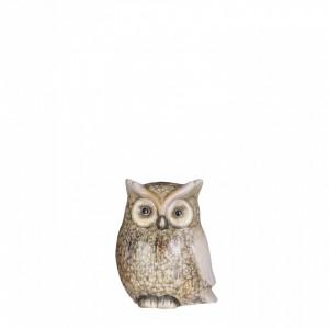 Figurina bufnita maro, 9x6x11cm
