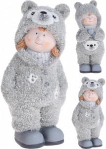 Figurina, copil in costum de ursulet, 17 cm