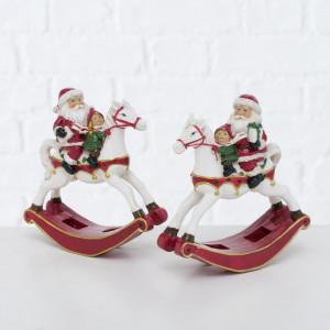 Figurina Santa pe calut balansoar, Largo, 13 cm