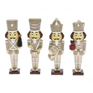 Figurina Spargator de nuci auriu, 16.5 cm, 4 modele