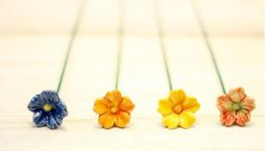 Floare ceramica Primula mini