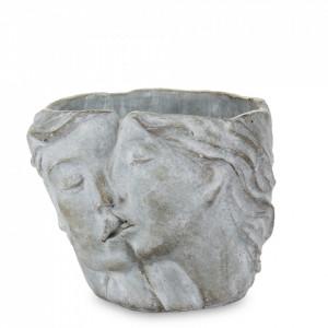 Ghiveci de piatra, cuplu, gri, 14.5x16x12 cm