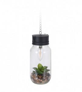 Lampa de agatat cu floare artificiala si timer, 11.5x25 cm