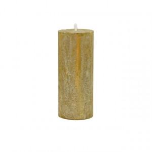Lumanare, auriu, 5x12cm
