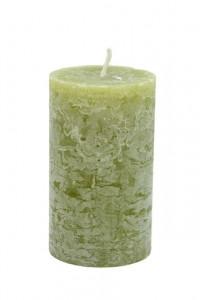Lumanare olive, 7x12 cm