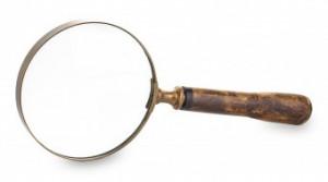Lupa, auriu antichizat, 23x10x2 cm