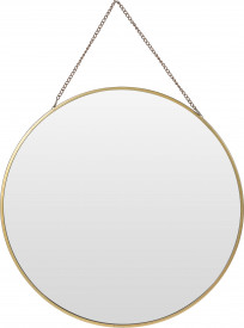 Oglinda de perete cu agatatoare - lant auriu, 29 cm