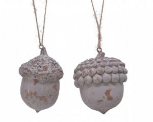 Ornament cu agatatoare, ghinda, 8 cm