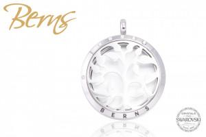 Pandativ aromaterapie, cristale Swarovski, model copac, argintiu