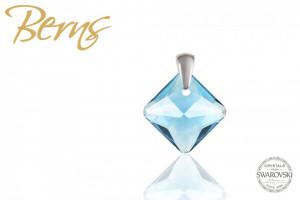 Pandativ, cristal Swarovski, forma romb, albastru