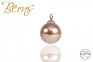 Pandativ, perla Swarovski, crem, diametru 12mm