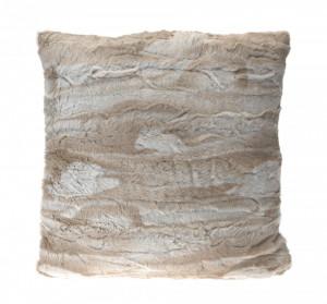 Perna imitatie blana, crem, 45 x 45 cm