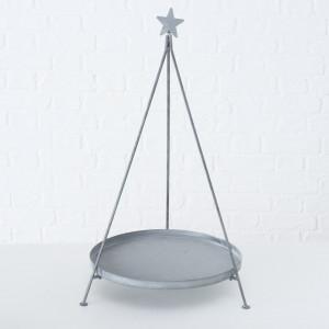 Platou metalic conic, gri, Silia, 70 cm inaltime