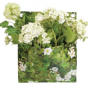 Suport de flori, verde, tip geanta, 25x30 cm