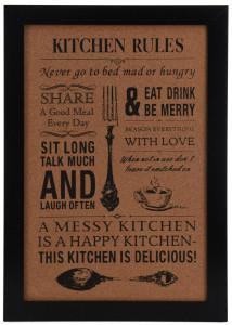 Tablou mesaj pentru bucatarie, 50x34 cm