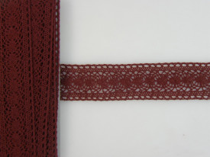 Banda, dantela, burgund, 4cmx5m