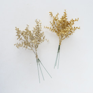 Buchet artificial decorativ, auriu