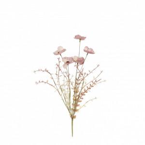 Buchet artificial maci, roz, 53x10 cm