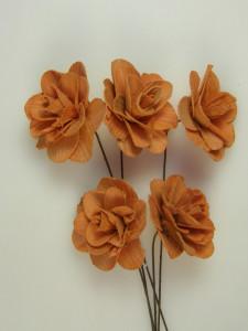 Buchet flori, Akacia, portocaliu, 6 cm