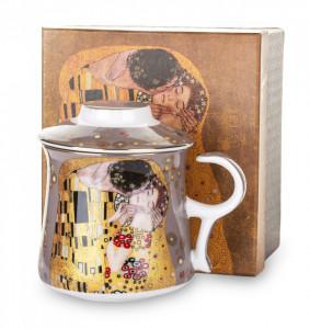Cana de portelan cu infuzor, 300 ml, Gustav Klimt
