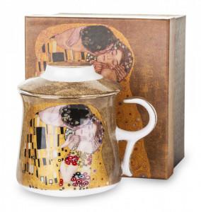 Cana de portelan cu infuzor, auriu, 300 ml, Gustav Klimt