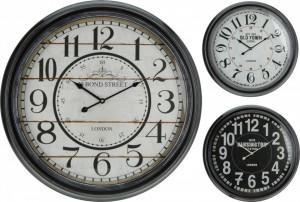 Ceas de perete, cadru metalic, 63 cm