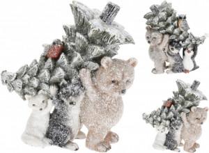 Figurina animalut cu copac, 17 cm