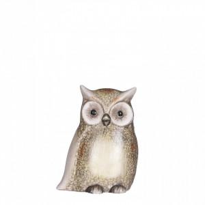 Figurina bufnita maro, 11.5x6.5x15.5 cm