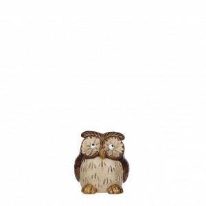 Figurina ceramica bufnita, 8.5x7.5x9.5cm