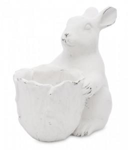 Figurina, iepure cu ghiveci, 21.5 cm