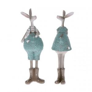 Figurina polirasina, iepuras cu cizme, 27 cm