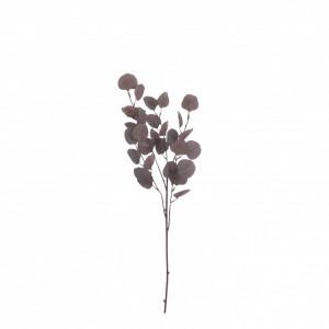 Floare artificiala Eucalypt, visiniu, 90cm