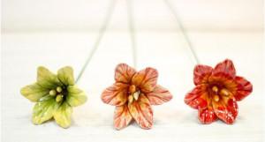 Floare ceramica Amarillys