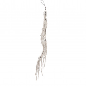 Ghirlanda artificiala bobite, crem, 109 cm