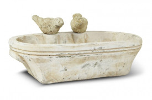 Ghiveci piatra, crem antichizat, 12x31x22 cm