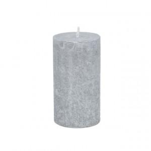 Lumanare 7*12 cm, argintiu
