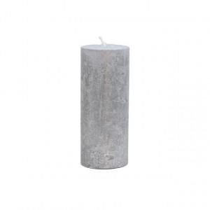 Lumanare, argintiu, 5x12cm