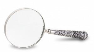 Lupa, maner metalic argintiu, 23x10x20 cm