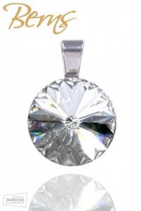 Pandativ, cristale Swarovski, diametru 16mm