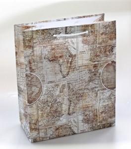 Punga de cadou, 26*32cm, model harta