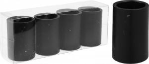 Set 4 suporturi de lumanare magnetice, negre, 3x4 cm